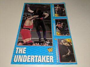 1996 WWF MAGAZINE TRADING CARDS UNCUT 4-Card Sheet Set THE UNDERTAKER Jumbo Card