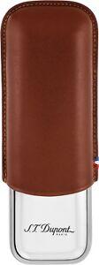 S.T. Dupont Metal Base 2 Cigar Case Brown Leather (183011)
