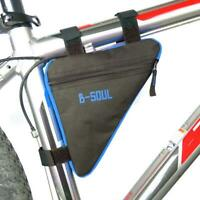 Triangle Cycling Bike Bicycle Front Tube Frame Pouch Bag Holder Saddle C WT7n