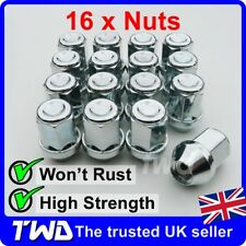 16 x TAPER SEAT WHEEL NUTS FOR PORSCHE WITH AFTER-MARKET ALLOYS M14x1.5 [16E]