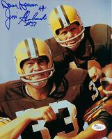 PACKERS Donny Anderson & Jim Grabowski signed 8x10 photo JSA COA AUTO Autograph