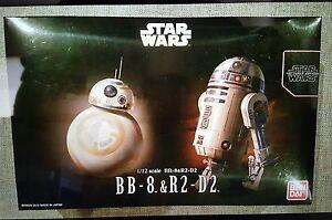 Star Wars BB8 R2d2 1/12 Scale Model Kit by Bandai