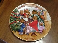 "1989 ""Together For The Holidays"" Avon Collectors Plate Victorian Teddy Bears"
