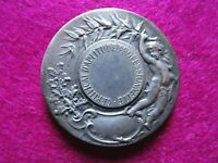 1900s French Nude Angel Splendid Art Nouveau medal 36mm by Adolphe Rivet