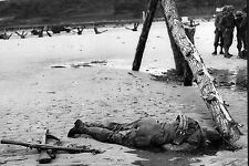 WW2 - Soldat américain tué sur une plage normande le 6 juin 1944