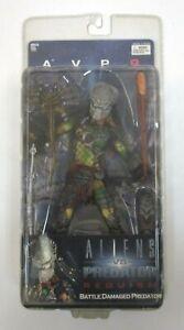 """AVP Requiem BATTLE DAMAGED Masked Wolf Predator 7"""" Figure MOC NECA Aliens"""