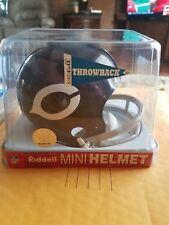 CHICAGO BEARS RIDDELL Mini 2 bar Helmet NFL. NIB  throwback 1962-1973