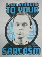 The Big Bang Theory I Am Immune to Your Sarcasm Sheldon Cooper T Shirt Mens L