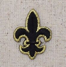SMALL Black/Gold - Fleur De Lis - Saints - Iron on Applique/Embroidered Patch