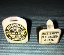 Vintage Mississippi Game And Fish Commission Pen Raise Quail Tags