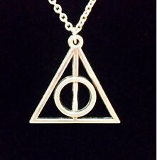 Silver Deathly Hallows Pendant Necklace