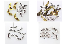 40 Pcs x Tibetan Angel Wing Spacer Silver Gold Beads Jewellery Making Findings
