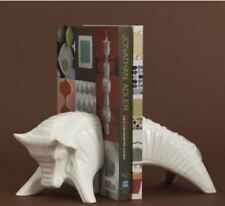 Jonathan Adler White High Fired Stoneware Matte White Bull Bookends  MSRP $138