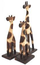jirafa 3 giraffenset holzgiraffe Animales África Figura Decorativa 2