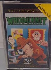 Whodunnit Spectrum 48k (TAPE) (Game, imballaggio, Manual)