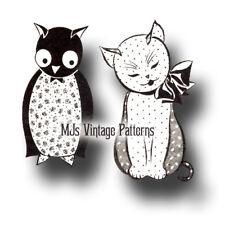 Vintage Stuffed Animal Pattern ~ Owl & Pussycat