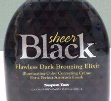 Supre SHEER BLACK Flawless Dark BRONZER TANNING BED LOTION SUN TAN 13.5 oz