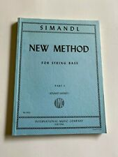Simandl - New Method For String Bass Edited by Sankey Published by International