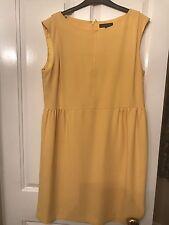 Jaeger, yellow, knee-length sleeveless shift dress, size 18