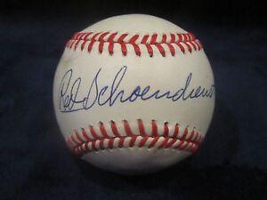 Red Schoendienst Autographed Official National League Baseball-JSA Cert