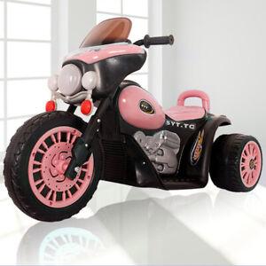 Harley Style Kid Ride On 3 Wheel Car Bike 6V Electric Battery Tricycle Motorbike
