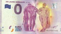BILLET 0 ZERO EURO SOUVENIR 300 JAHRE HERKULES 1717-2017   2017-1 NUMERO 1400