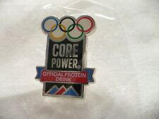 Vintage Core Power Official Protein Drink of the Olympic Games Pin NIP