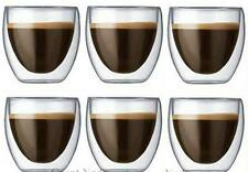 6pcs Double Wall Coffee glass cup mugs for tea/espresso/vodka Mini Tea Cups 80ml