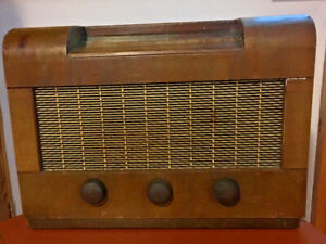 Vintage ART DECO His Master's Voice HMV Wireless Radio Set valve radio