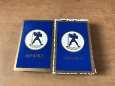 vintage Deck Playing Cards USA blue Aquarius Zodiac Sign Bridge Size never used