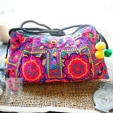 Ethnic Embroidered Clutch Handbag Crossbody Zip Purse Hippie Banjara Message Bag