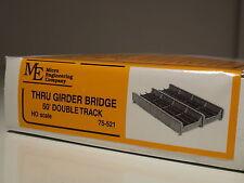 HO Micro- Engineering #75-521 THUR GRIDER BRIDGE DOUBLE TRACK 50' BIGDISCOUNT
