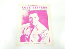 Elvis Presley Love Letters Music Sheet RCA Victor Records Vintage Cover Photo