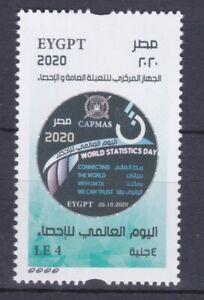 "EGYPT 2020 NEWLY ISSUED WORLD STATISTICS DAY + SPELLING ERROR "" EYGPT """