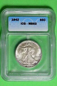 1942 ICG MS63 Walking Liberty Half Dollar #B26666