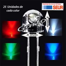 Kit 100X Diodo LED 5X5 mm en diversos colores 2 Pin alta luminosidad