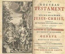 Nouveau testamento L 'Academie de Geneve 1751
