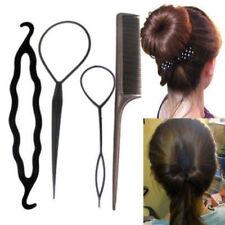 4Pcs / Set Hair Styling Clip Bun Maker + Topsy Tail Braid Ponytail Tool