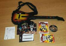 Nintendo Wii Guitar Hero World Tour game with guitar controller Free Post