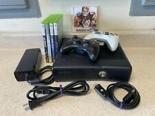 Microsoft Xbox 360S 4GB Bundle, Model # 1439, 2 Controllers, 5 Games