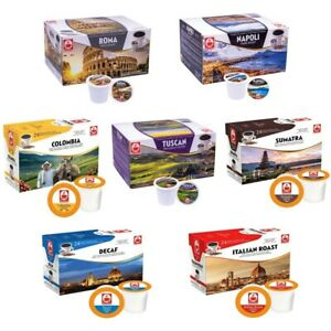 48 KEURIG K-CUP COMPATIBLE PODS CAPSULES: SUMATRA, NAPOLI, ROMA, COLOMBIA,TUSCAN