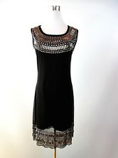 Black Design Womens Fashion Sexy Party Club Evening Embellish Dress sz M/L BF12