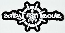 Salty Souls Ship Wheel & Turtle Sticker Decal Salt Beach Fishing Surfing Life