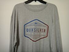 Quicksilver Surf Company Mens Premium Fit Long Sleeve Shirt Color Gray Size XLG