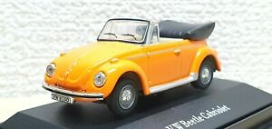1/72 Hongwell VOLKSWAGEN VW BEETLE CABRIOLET ORANGE diecast car model