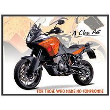 Large KTM 1190 Vintage Metal Tin Sign Poster Bar Garage Wall Decor 40x30cm