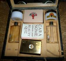 Rare HTF Vtg Cara Nome Mirrored Vanity Case w/Bottles Box Compact More LOOK HL