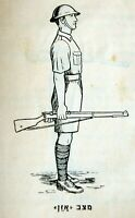 1937 Palestine JEWISH POLICE NOTRIM Book FIREARM Guide FIFLE DRILL - LEE ENFIELD