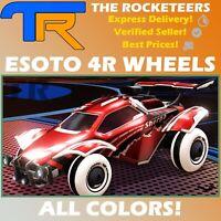 [PC] Rocket League Every Esoto 4R Limited Wheel Titanium White Crimson etc.