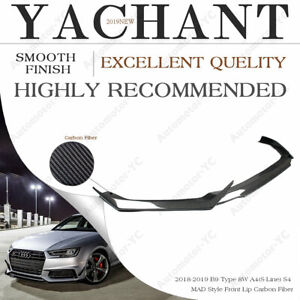 CARBON mad-Style Front Lip Splitter Fit For 18-19 B9 Type 8W A4 (s line) S4